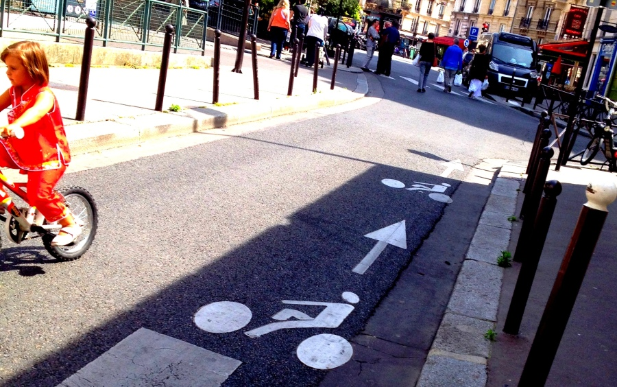 Parisian bike lanes