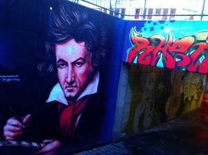 Images of Beethoven are found all over the city (and his music, every morning in our hotel)
