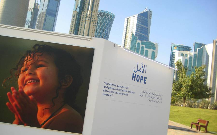 When it comes to the climate negotiations, frustrations remain. Still, I beleive in hope.Rather appropriately, Doha had a large outdoor photo exhibition about hope during the weeks of the conference...