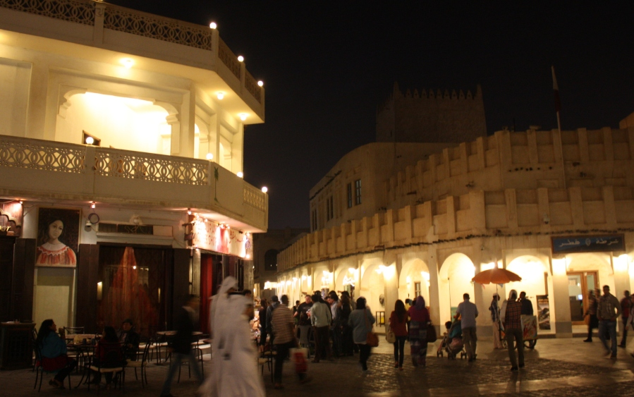 The Souq Waqif is popular on weekends and evening nights for city meandering