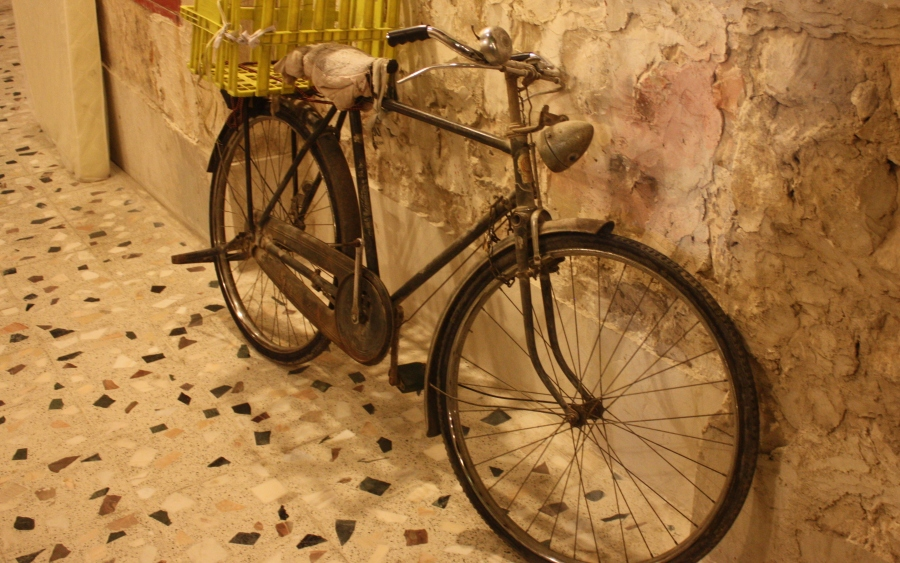 I searched and searched for bicycles, but once I spotted them, they were in abundance (in the Old Town)
