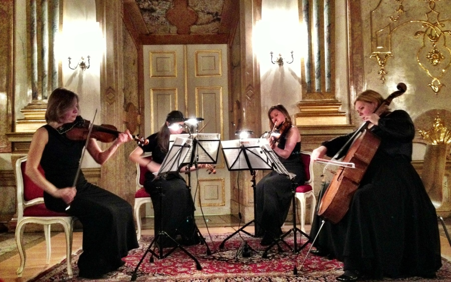 Another Salzburg tradition: enjoying a Mozart-inspired string quartet