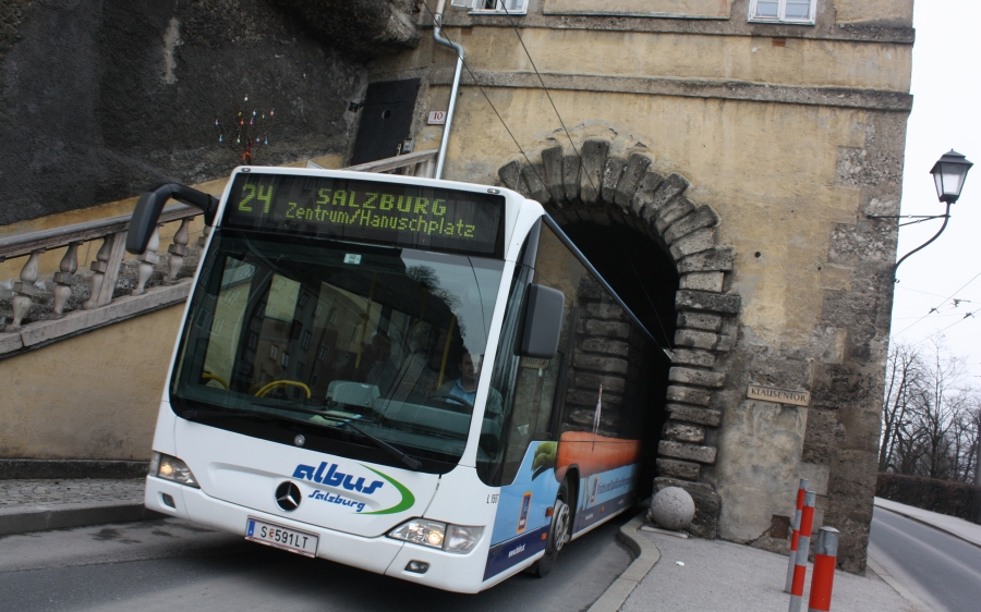 Historic (and narrow) buildings and tunnels are no barrier for the modern public transport system...