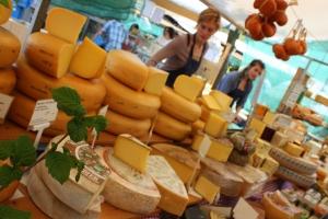 Noordermarkt, Amsterdam Local cheese, dairy, meats and veggies: yum!