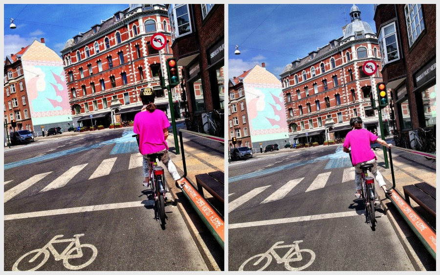 In both Malmö & Copenhagen you can find lean-to bars for cyclists at intersections - a footrest while you are waiting and a handy bar to help you push away when the light turns green.