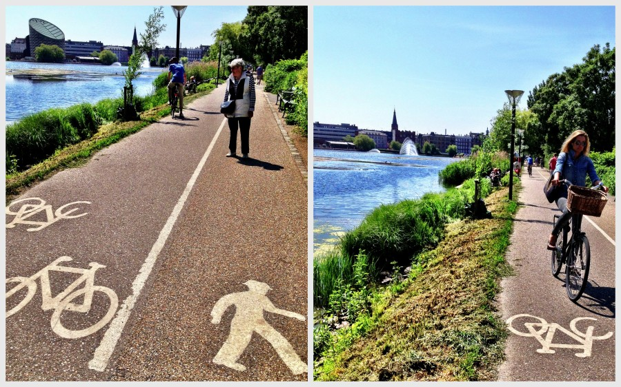 Copenhagen: Cycling or walking? There is space for both along Copenhagen's central lakes