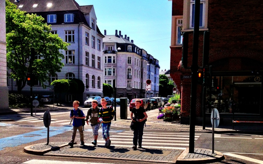 Copenhagen: I love big cities where young boys can safely walk to school.  Less cars = safer streets and less pollution.