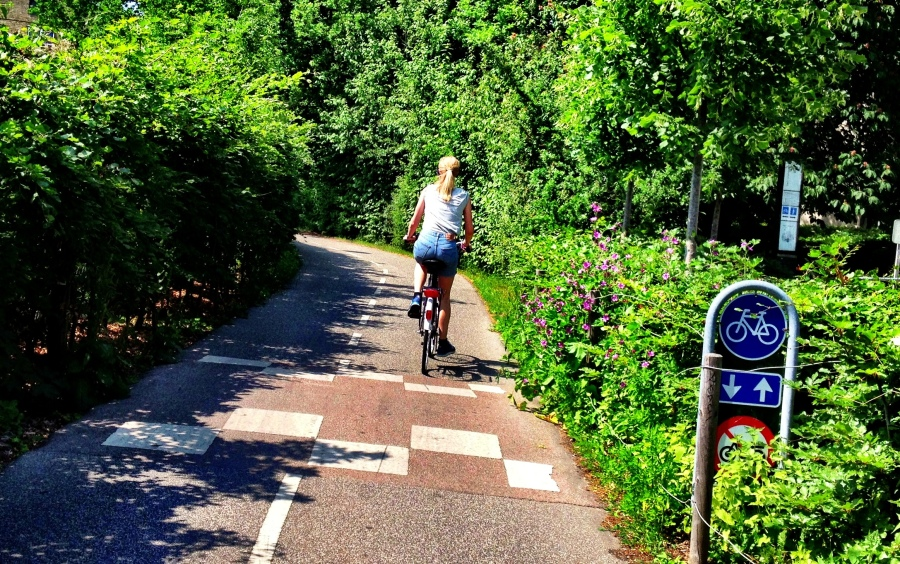 Copenhagen: Den Grønne Sti - a green cycle path through the centre of the city