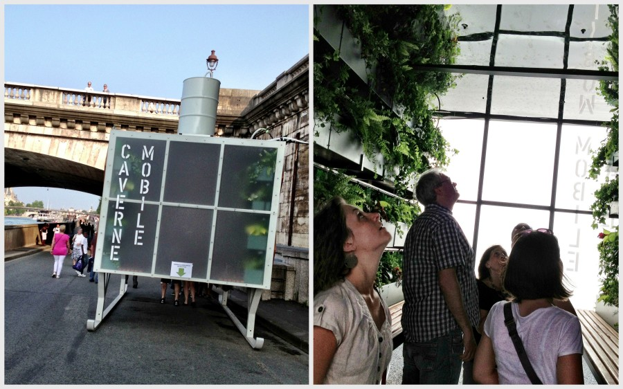 Temporary expo space: this one on hanging plants and urban green