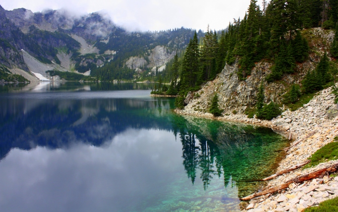 Snow Lake in the Central Cascades