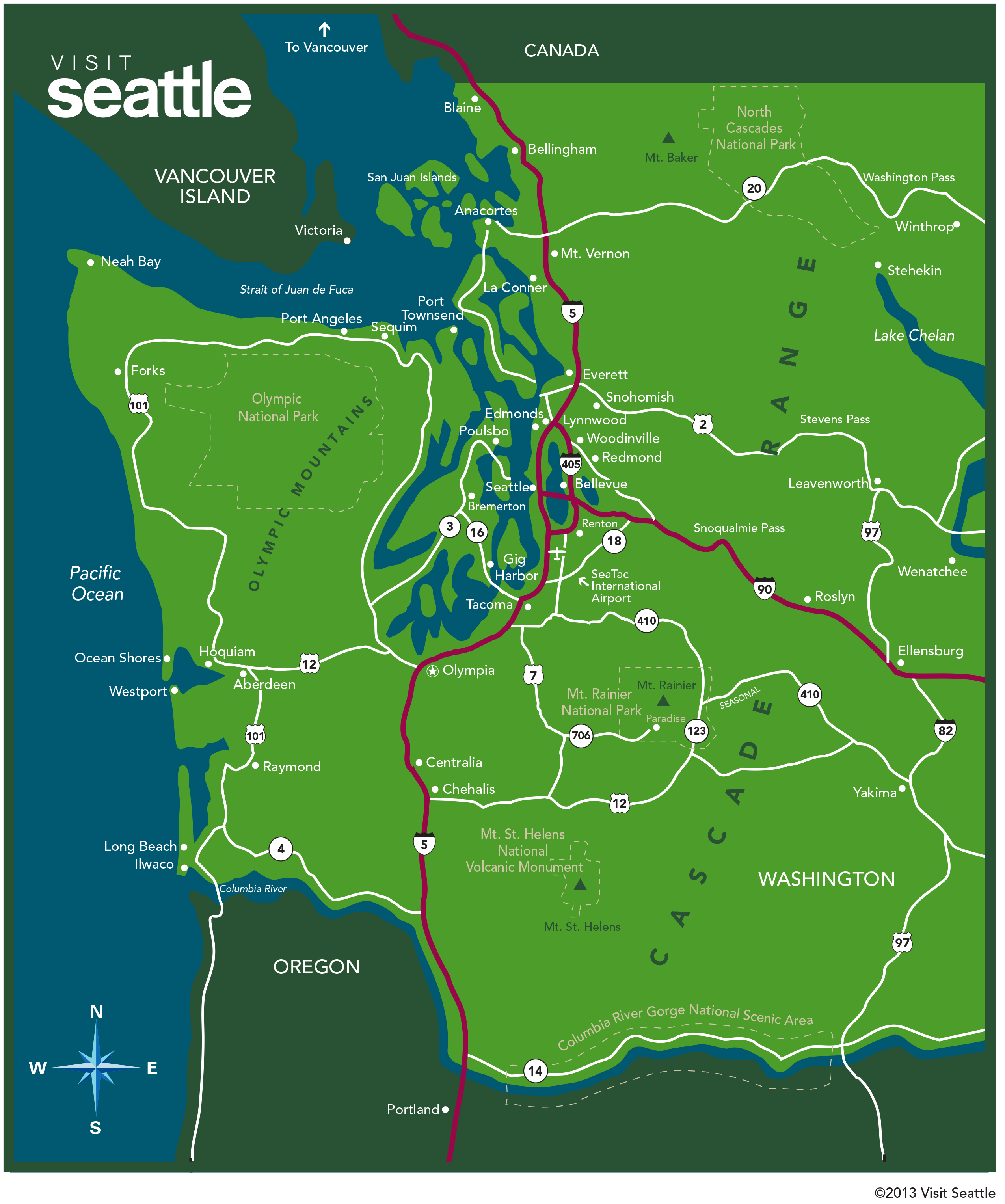 Maps Update 700698 Tourist Map Of Seattle 11 TopRated Tourist Attractions