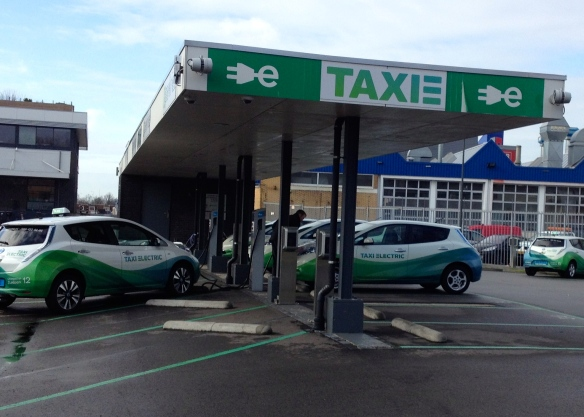 E-taxi charging station in Amsterdam