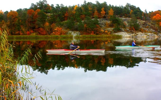 Kayaking on Brunnsviken