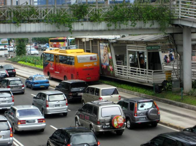 Bus Rapid Transit in Jakarta, Indonesia  (Credit: the author)