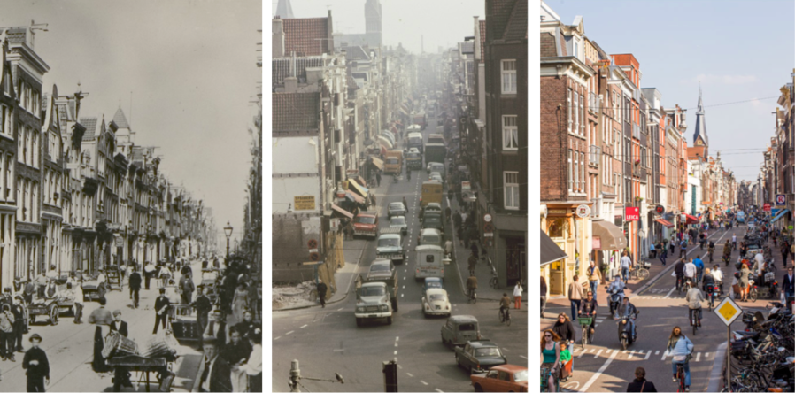 Haarlemmerdijk 1900, 1971 & 2013. Historical photos by Amsterdam Archives & modern perspective by Thomas Schlijper.